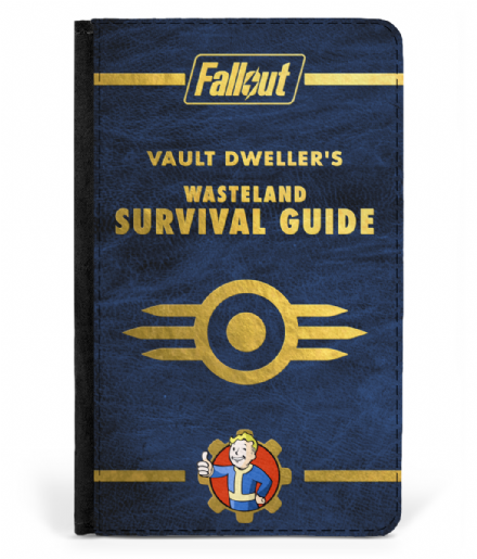 Vault Dwellers Wasteland Survival Guide Passport Cover based on Fallout Games